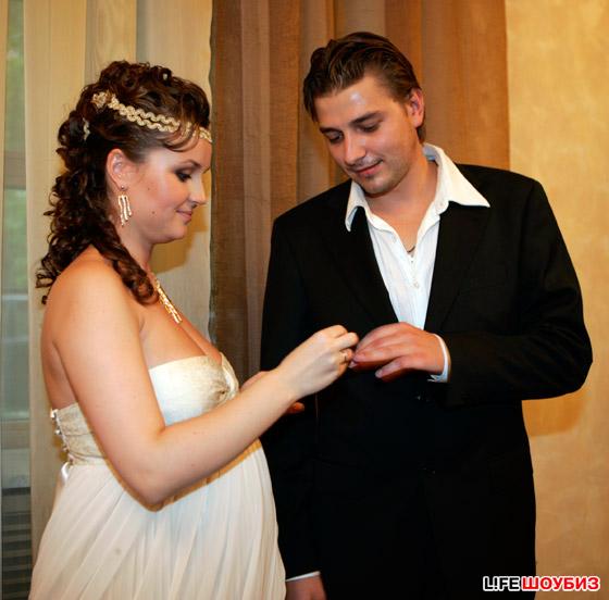 Фото свадьбы беременной полины гагариной