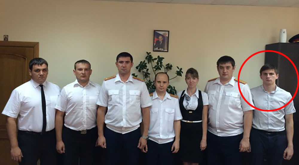 Крайний справа — следователь Сокрутенко А.А. Фото © Темрюк.инфо