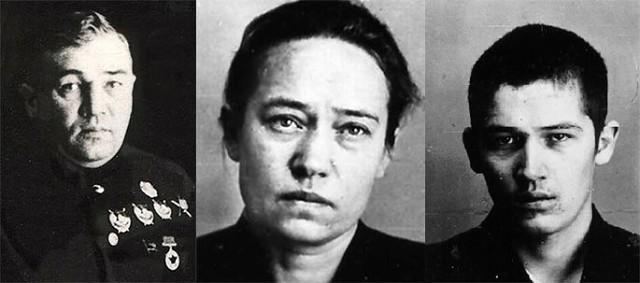 Михаил Фриновский, Нина Фриновская и Олег Фриновский. Фото © Wikimedia Commons