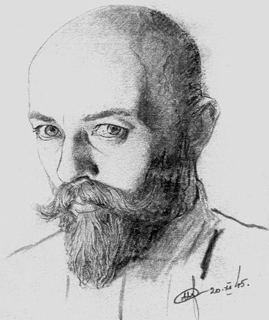 Нил Хасевич. Автопортрет (1945). Источник: wikipedia.org