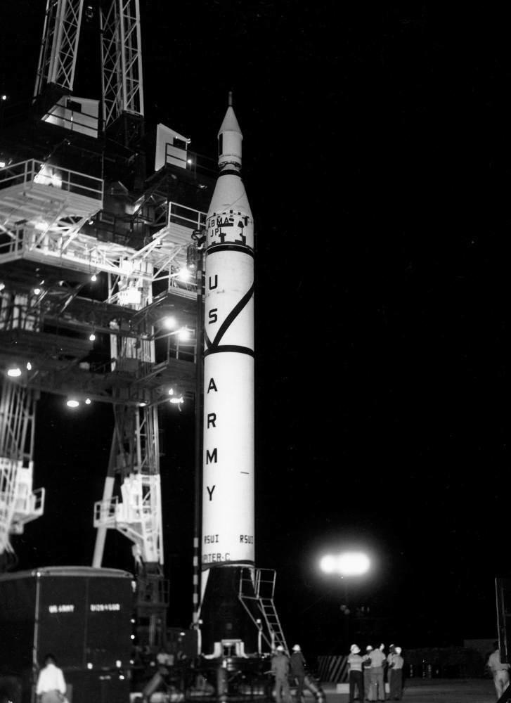 Ракета Jupiter-C, 1956 год. Фото © ВПК.name