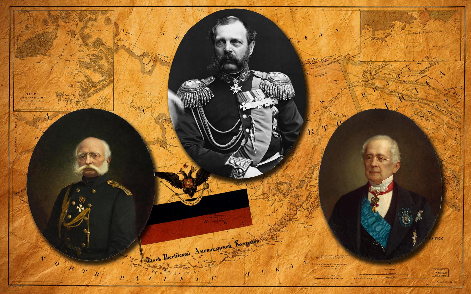 Адмирал Врангель, Александр II, глава МИД Горчаков. Коллаж © L!FE Фото: © wikipedia