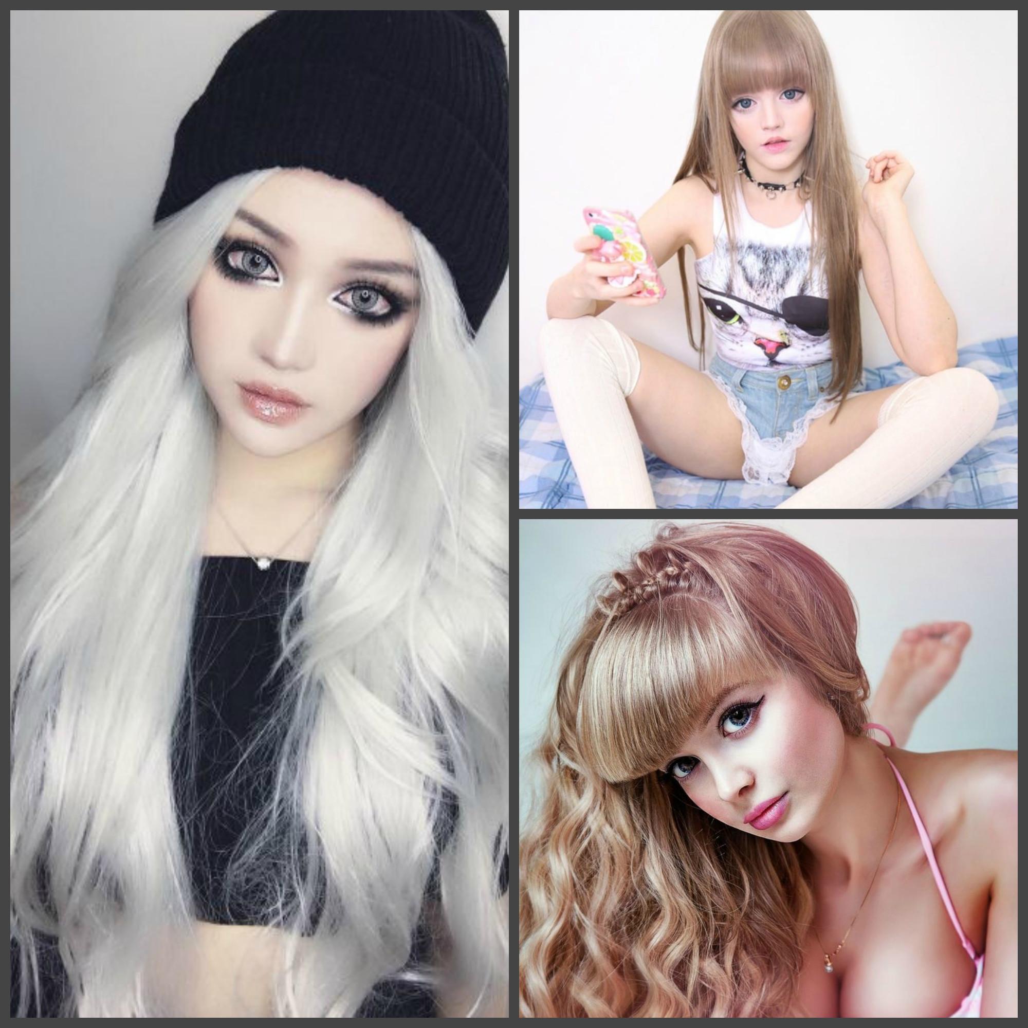 Девушки похожие на кукол в картинках