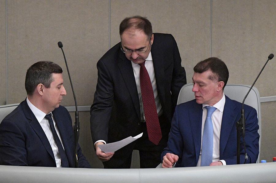 Максим Топилин (справа). Фото © РИА Новости / Владимир Федоренко