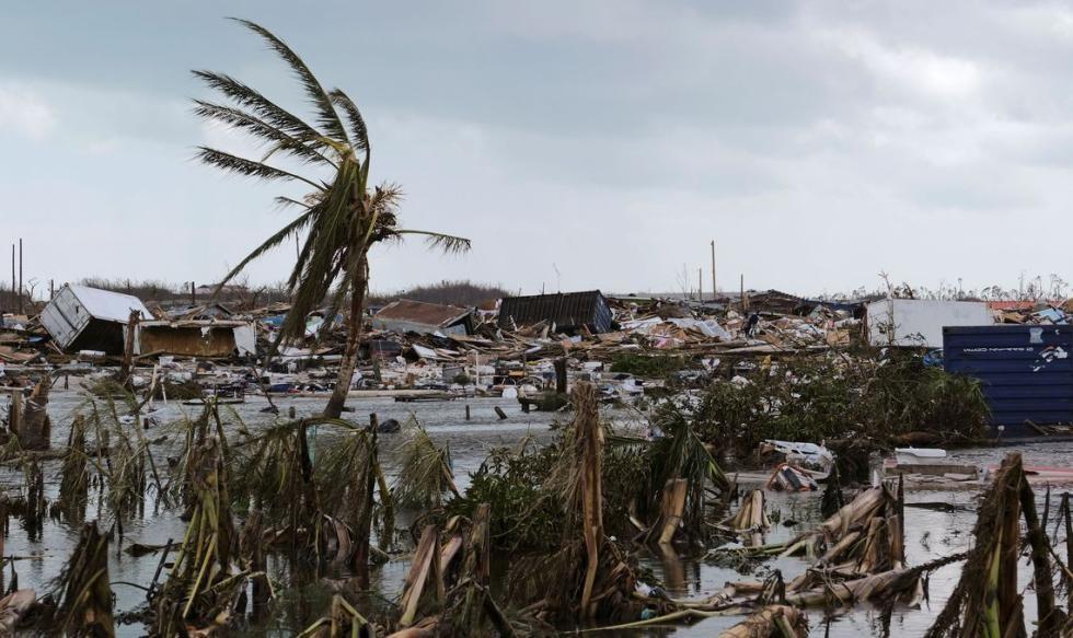 "Багамы после ""Дориана"". Фото © Twitter / Vanessa Martina Silva"