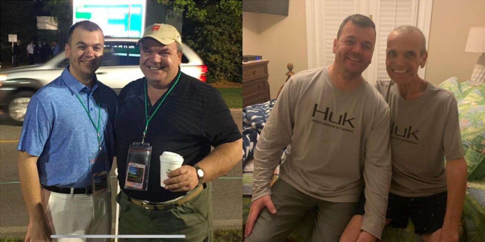 Слева отец и сын в 2017 году, справа — в 2019-м. Фото © Reddit/Rvjones55