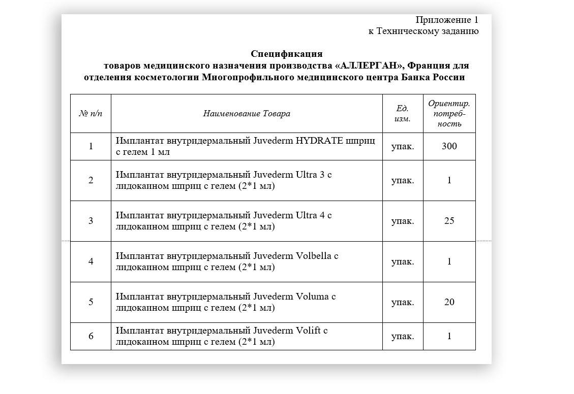 Фото © Скриншот тендерной документации Банка России