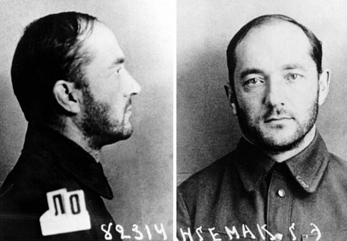 Фото Г.Э. Лангемака из его дела после ареста 2 ноября 1937 года. Фото © wikipedia