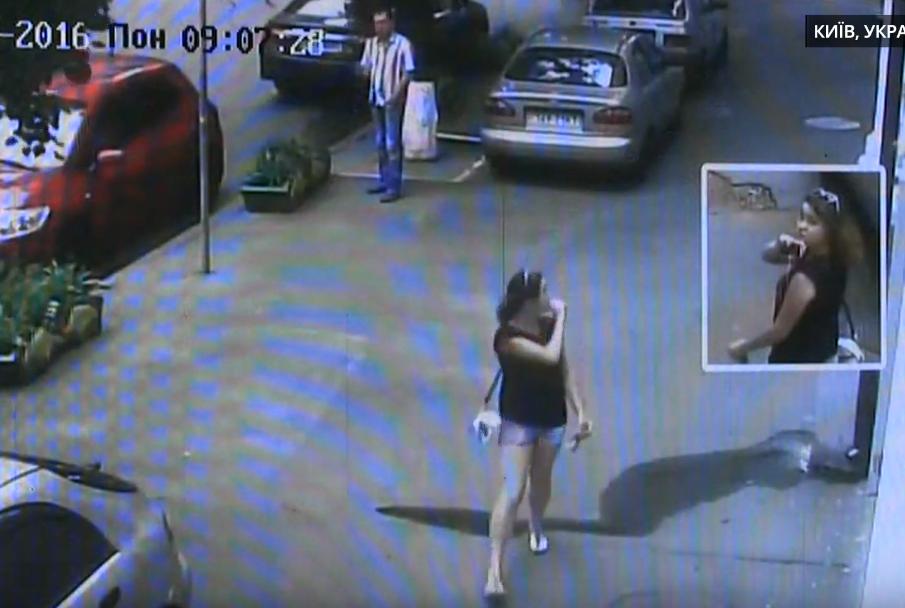 """""""Разведчица"""" попала на все камеры слежения. Фото © strana.ua"""