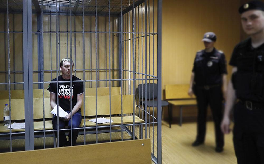 Журналист Иван Голунов. Фото © ТАСС / EPA / Сергей Ильнитский