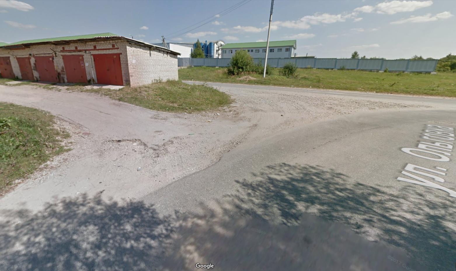 Пустынная улица Ольговка. © Google Maps