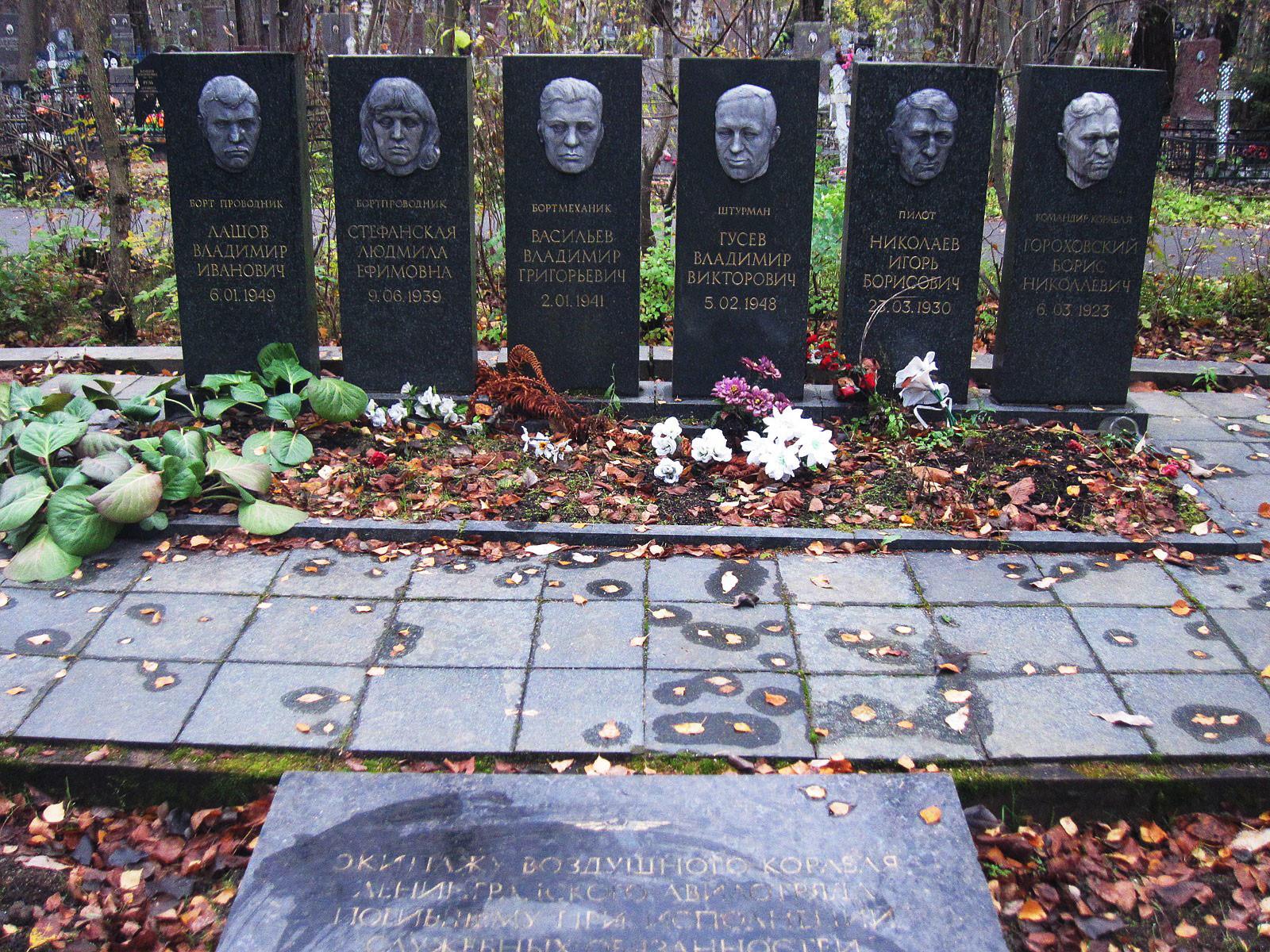 Мемориал экипажу Ту-104, борт СССР-42471. Фото © Википедия