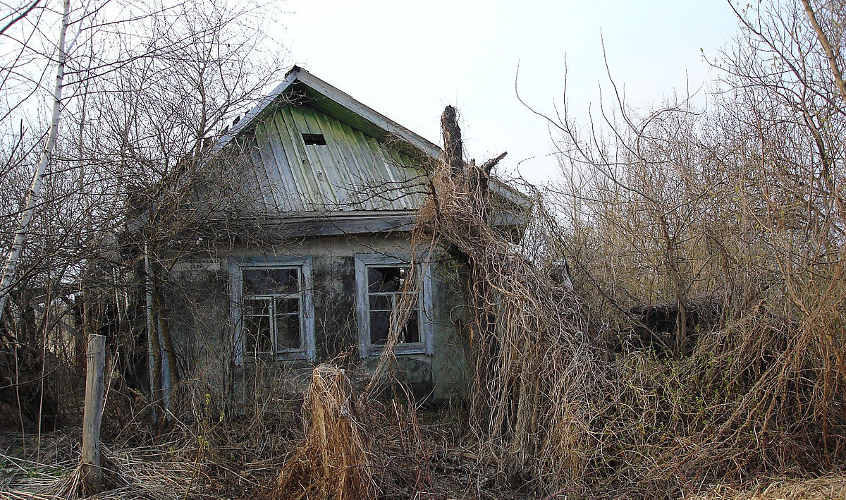 Заброшенный дом в зоне отчуждения. Фото © Wikimedia Commons