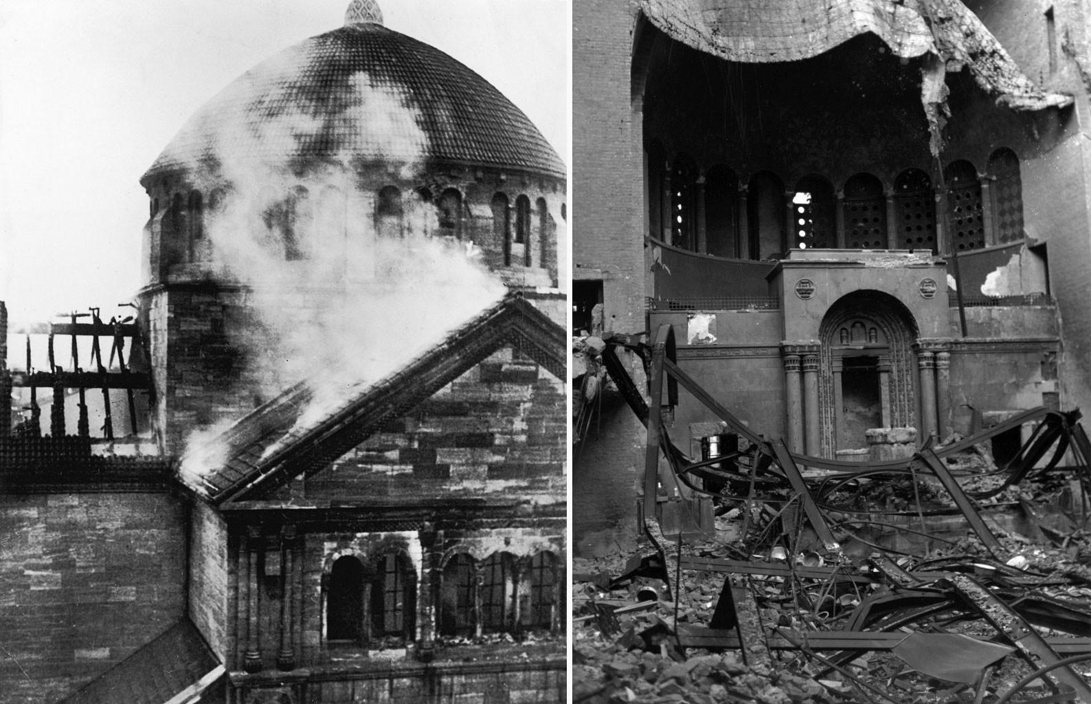 Разрушенная синагога. Фото © Hulton Archive / Getty Images