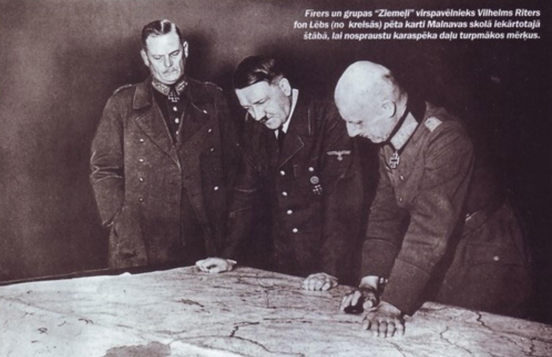 Гитлер и фон Лееб в латвийской Малнаве Фото © maksim-kot.livejournal.com