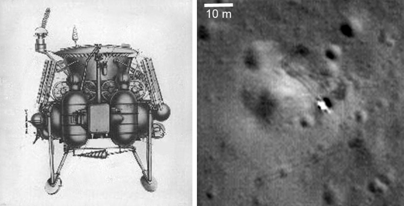 "Схема АМС ""Луна-17"", аналога ""Луны-21"" / Посадочная ступень ""Луны-21"" Фото: © wikipedia"
