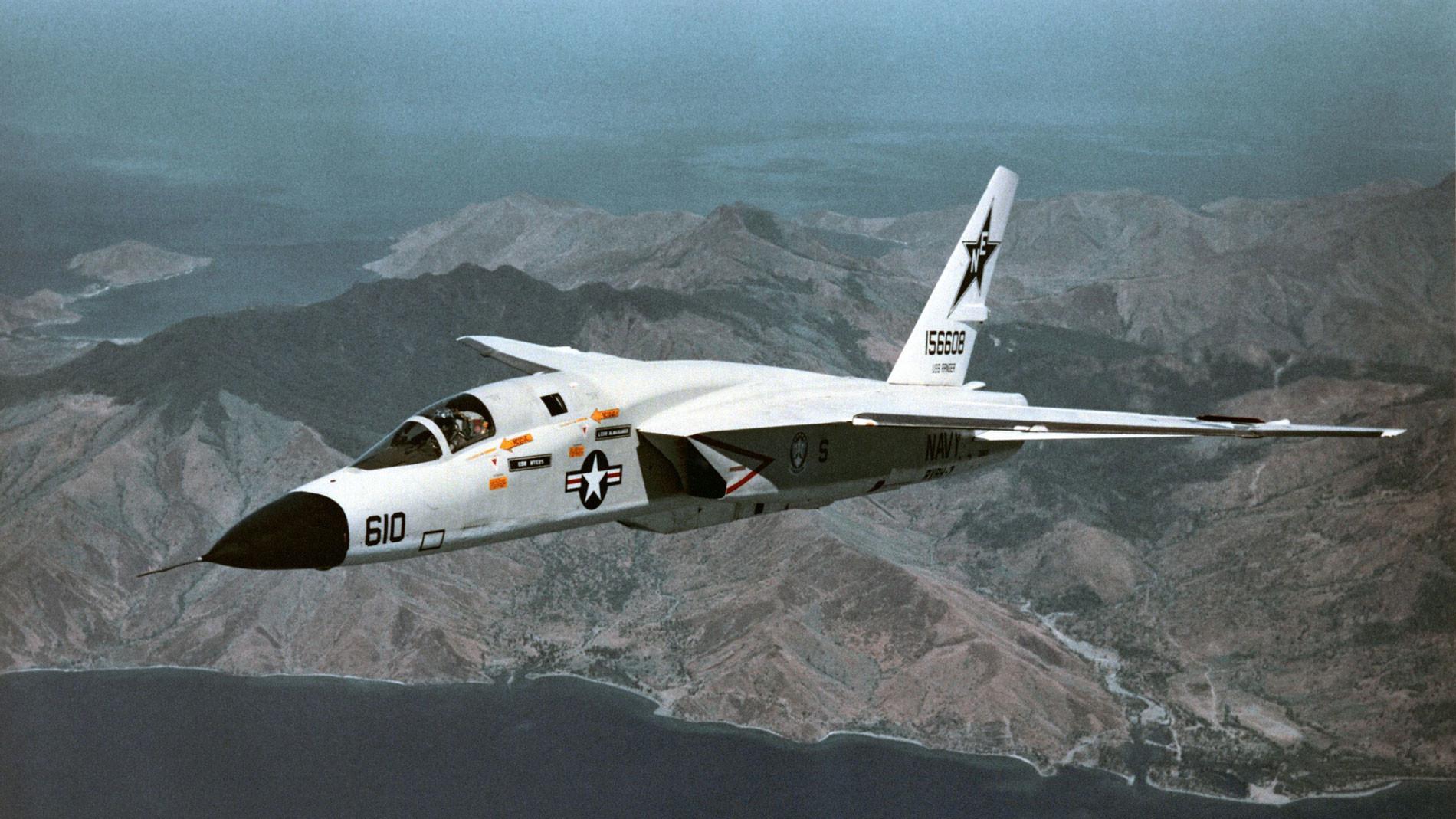 RA-5C разведывательно-ударной эскадрильи RVAH-7 ВМФ США. Фото © Wikipedia