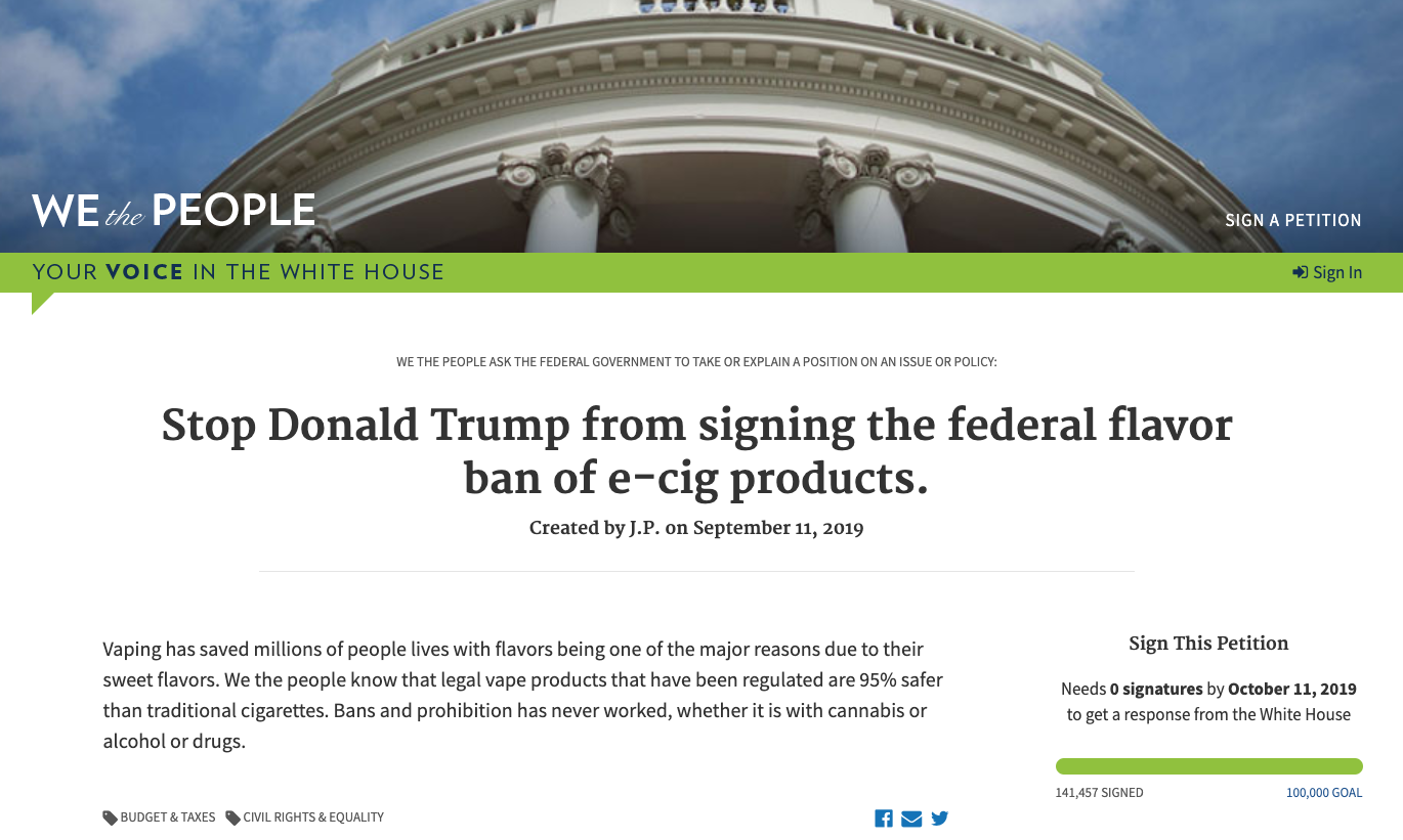 @ petitions.whitehouse.gov