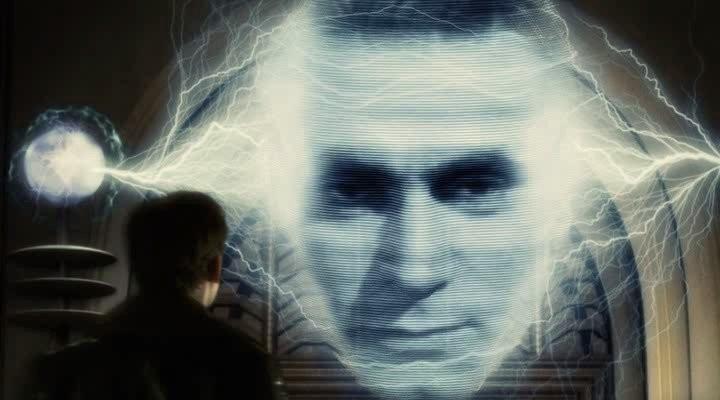 """Кадр из фильма """"Небесный капитан и мир будущего""""."""
