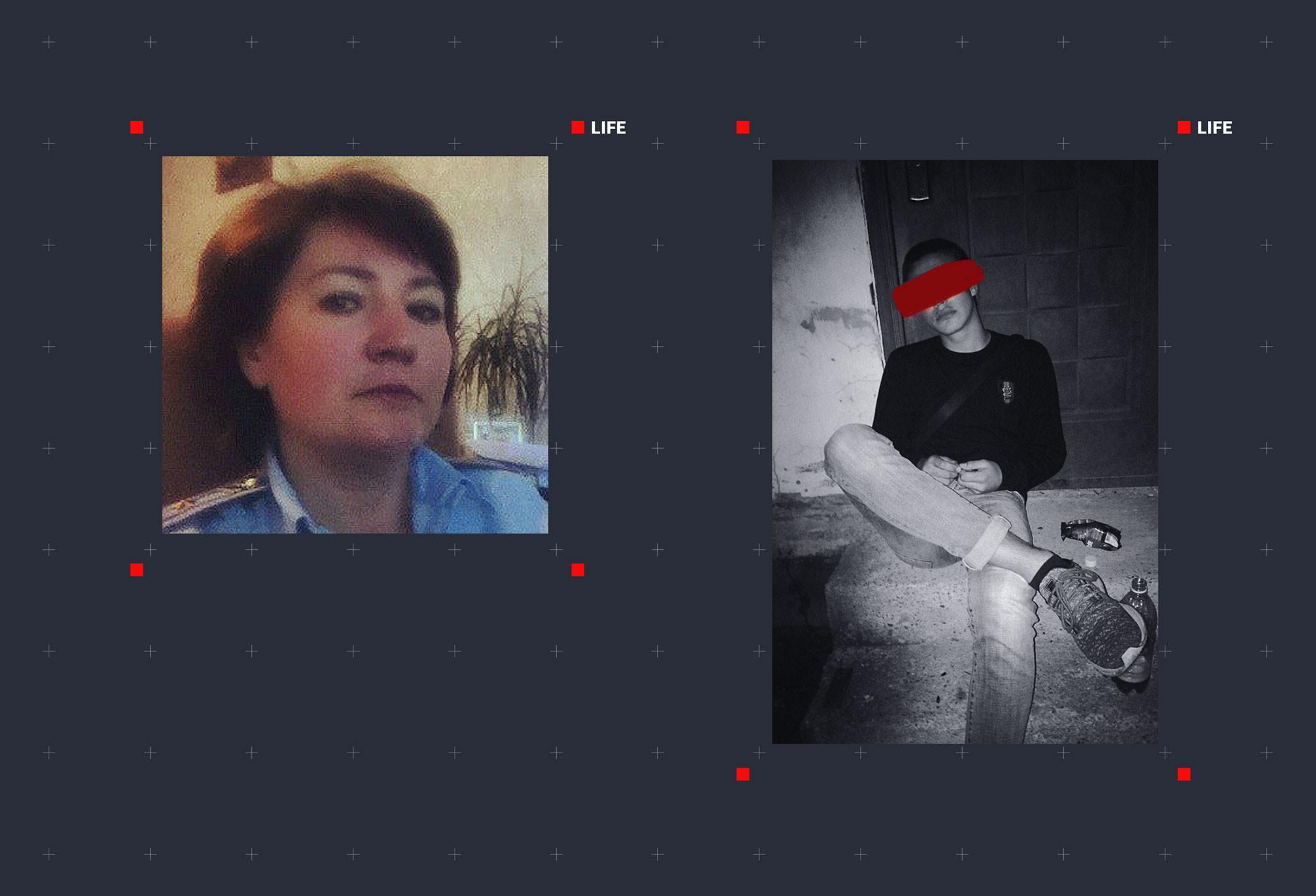 Следователь Оксана Глущенко (слева) и один из убийц Натальи Дмитриевой (справа). Фото © VK / Оксана Глущенко, © Соцсети