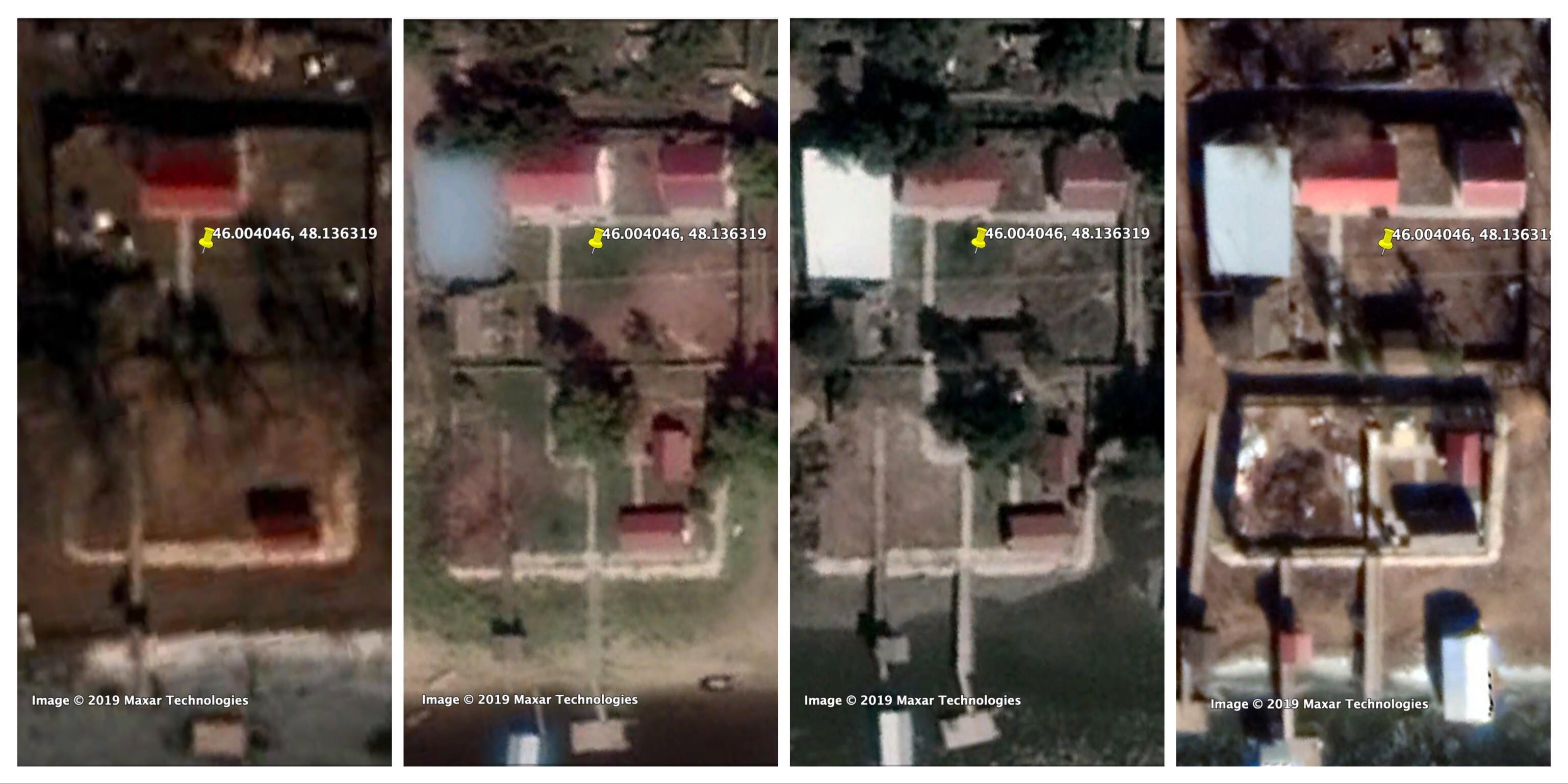 Тот самый новый участок, выросший на берегу реки, в хронологии с 2011 по 2019 год. Фото © Google Earth