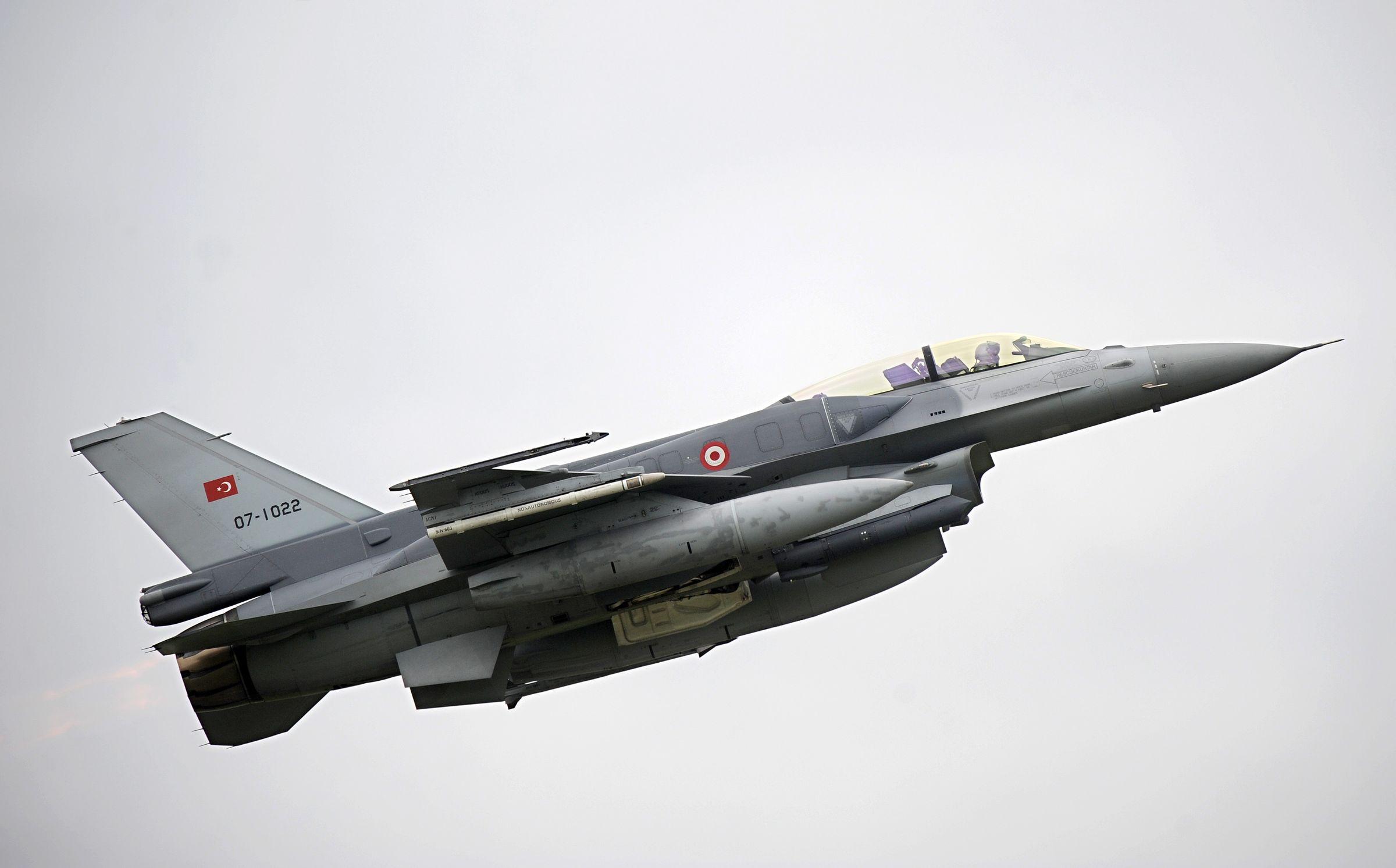 <p>Истребитель F-16 ВВС Турции. Фото © ТАСС / DPA / Ingo Wagner</p>