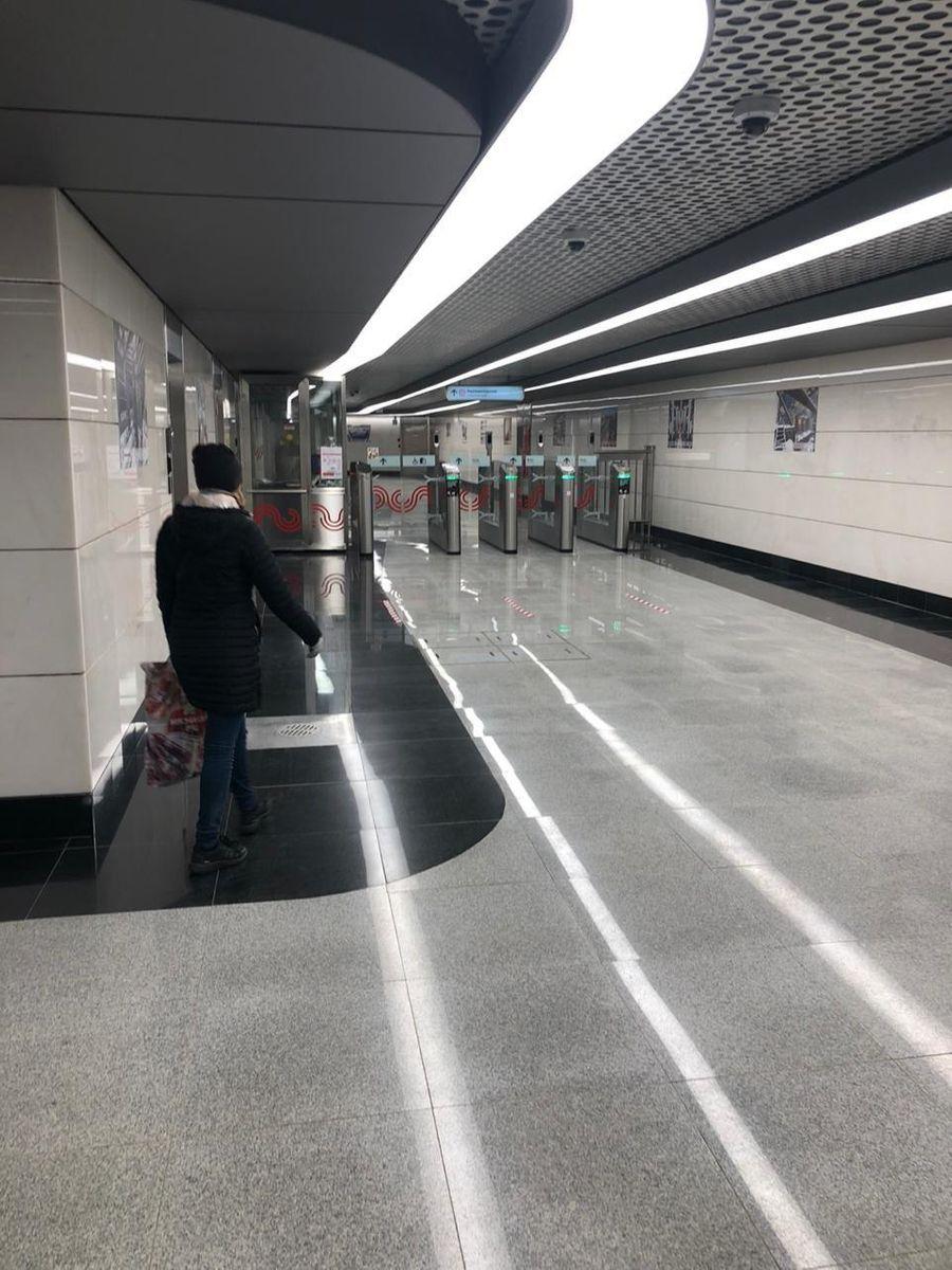 """Станция метро """"Авиамоторная"""". Фото © Пресс-служба Департамента транспорта Москвы"""