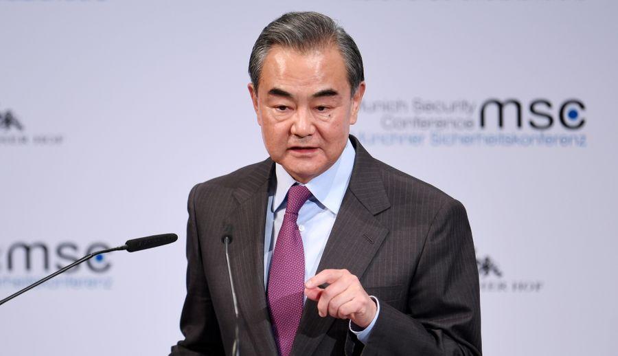 <p>Глава МИД Китая Ван И. Фото © ТАСС / Tobias Hase</p>