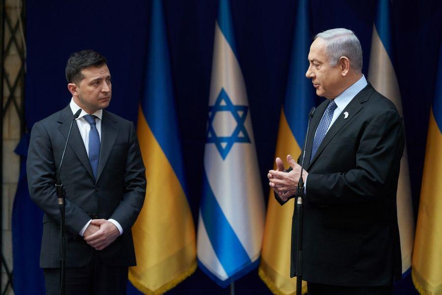 <p>Президент Украины Владимир Зеленский и премьер-министр Израиля Биньямин Нетаньяху. Фото © Офис президента Украины</p>