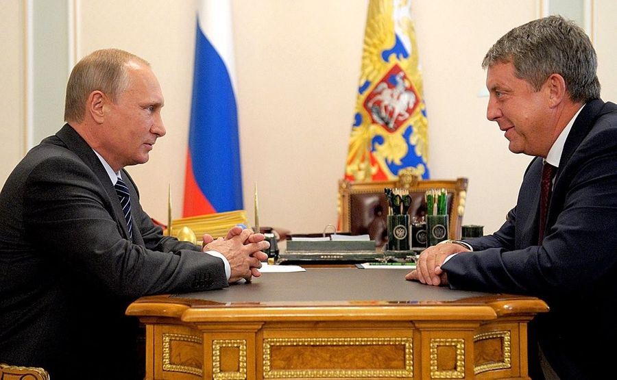 <p>Президент РФ Владимир Путин и губернатор Брянской области Александр Богомаз. Фото © Kremlin</p>