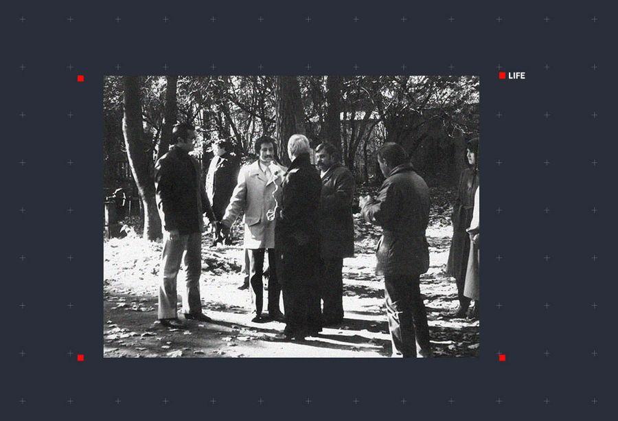 Йоханнес-Андреас Ханни на следственном эксперименте на улице Валдеку. Фото ©Maaja