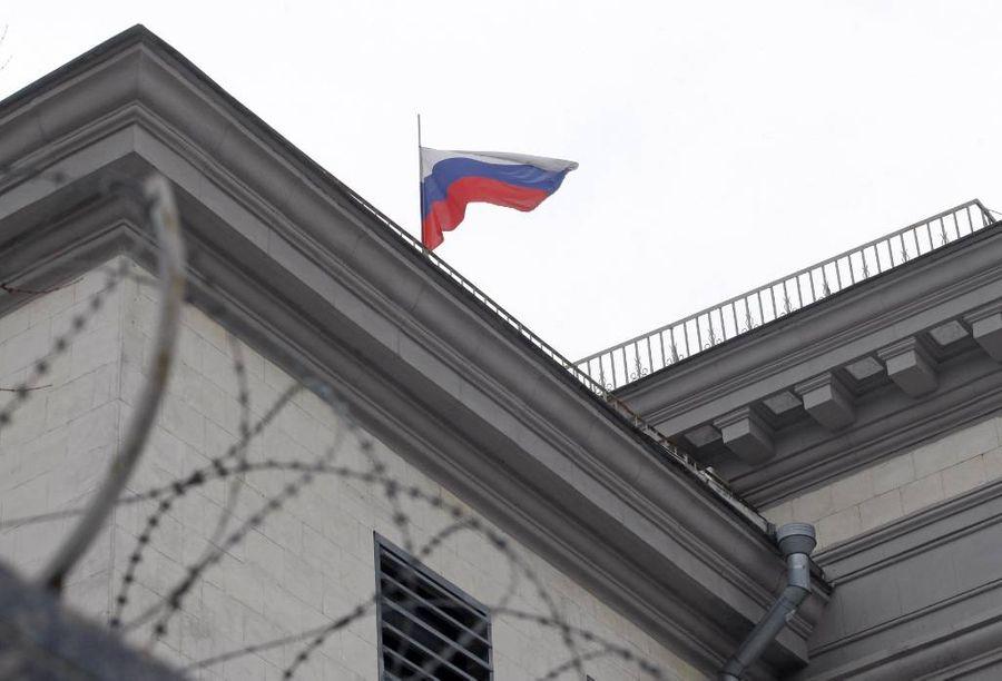 <p>Посольство России в Киеве. Фото © Zuma / ТАСС</p>