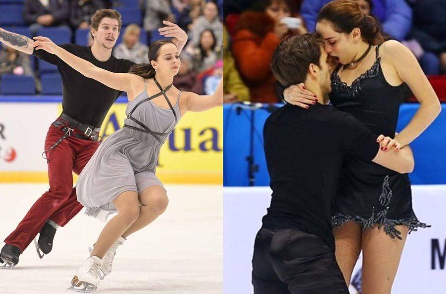 Слева — Бетина Попова с Сергеем Мозговым, справа — с Юрием Власенко. Фото © Instagram / bet1nka