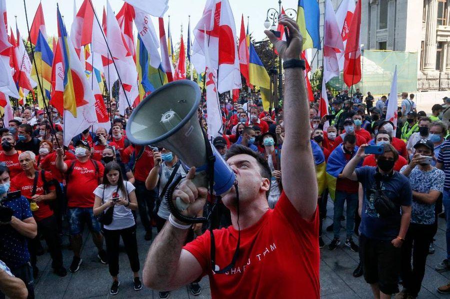 Митинг с требованием отставки президента Украины в Киеве. Фото ©AP Photo / Efrem Lukatsky
