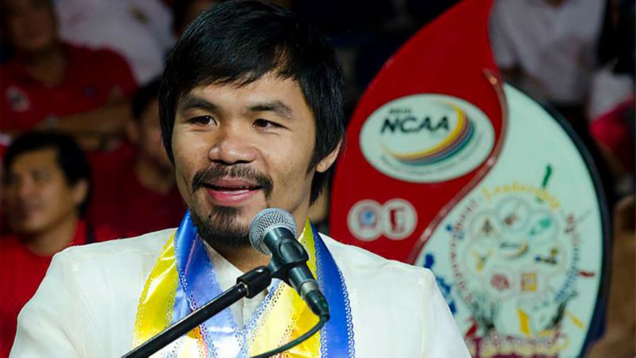 """<p>Мэнни Пакьяо. Фото ©<a href=""""https://commons.wikimedia.org/wiki/File:Manny_Pacquiao_at_87th_NCAA.jpg"""" target=""""_blank"""" rel=""""noopener noreferrer""""> Wikimedia Commons</a></p>"""