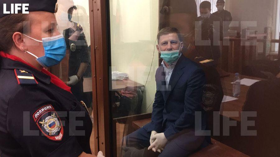 <p>Сергей Фургал в суде. Фото © LIFE</p>