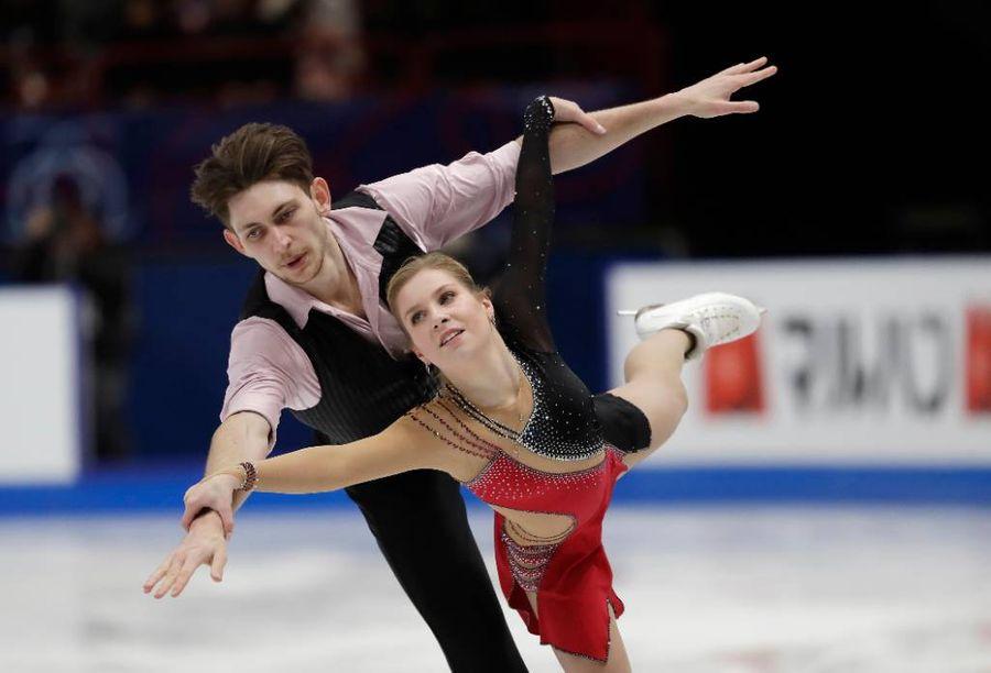 Фигуристы Харли Уиндзор и Екатерина Александровская. Фото © ТАСС / AP Photo / Luca Bruno