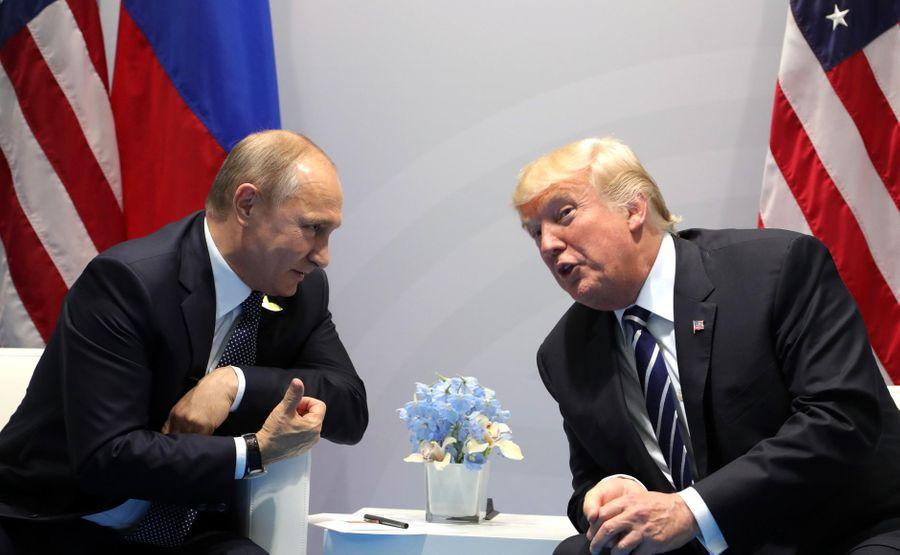<p>Президент РФ Владимир Путин и президент США Дональд Трамп. Фото © Kremlin</p>