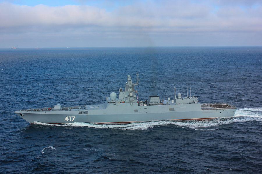 Фрегат «Адмирал флота Советского Союза Горшков», на котором установлена станция «Филин». Фото © Wikipedia