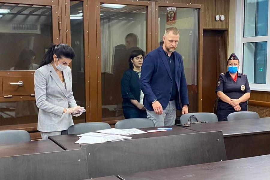 Марина Лукашевич в зале суда. Фото © ТАСС / Ольга Сиверкина