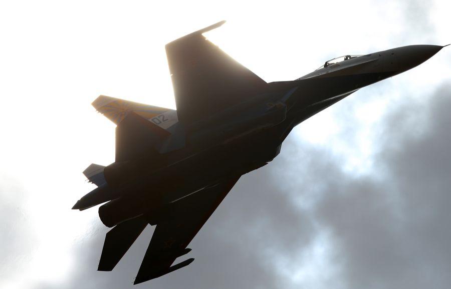 <p>Многоцелевой истребитель Су-27. Фото © ТАСС / Марина Лысцева</p>