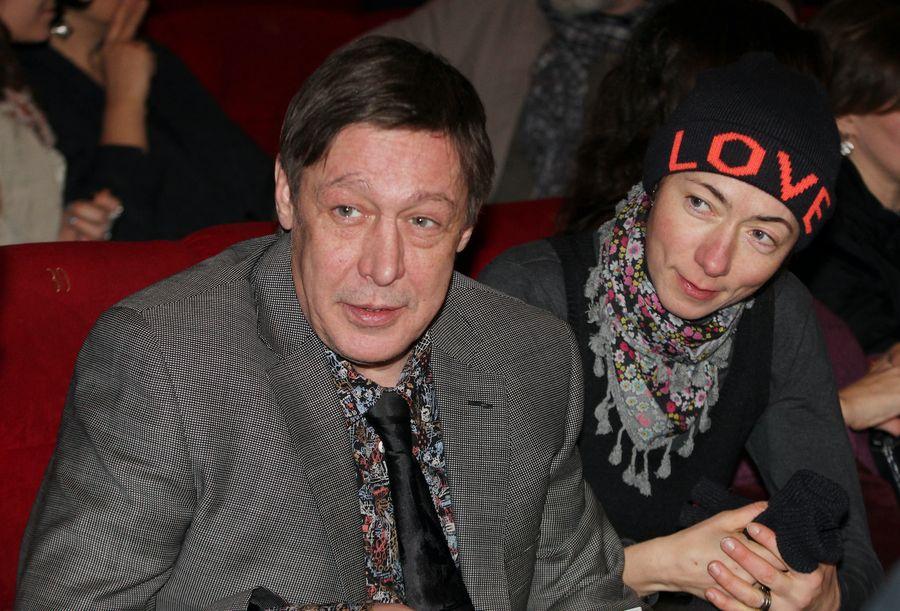<p>Михаил Ефремов с супругой Софьей Кругликовой. Фото © ИТАР-ТАСС / Вадим Тараканов</p>