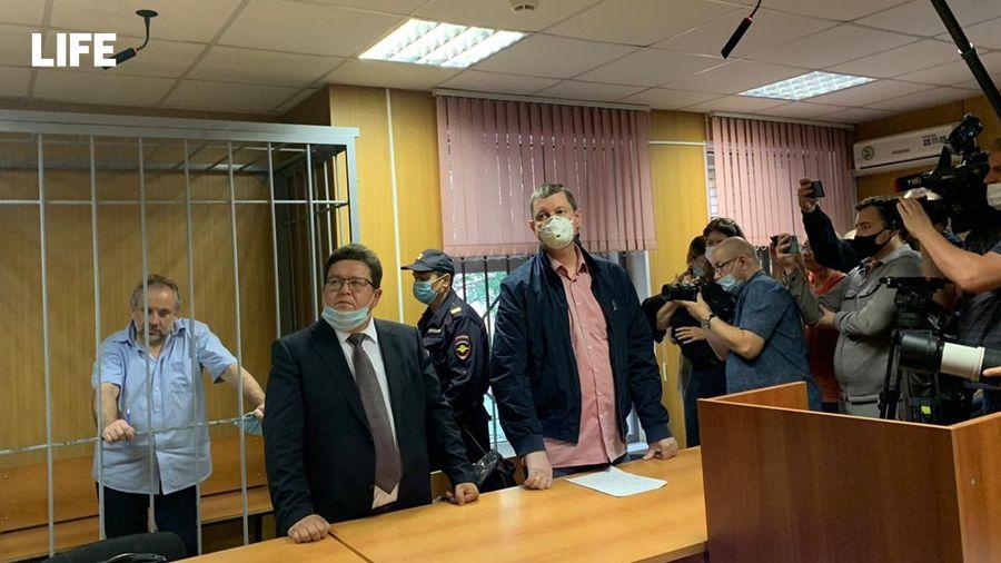 <p>Олег Шереметьев в Пресненском суде Москвы. Фото © Life</p>