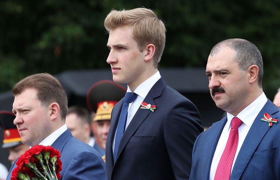 Сыновья президента Белоруссии Александра Лукашенко — Дмитрий, Николай и Виктор (слева направо). Фото © ТАСС / ФедосенкоНаталия