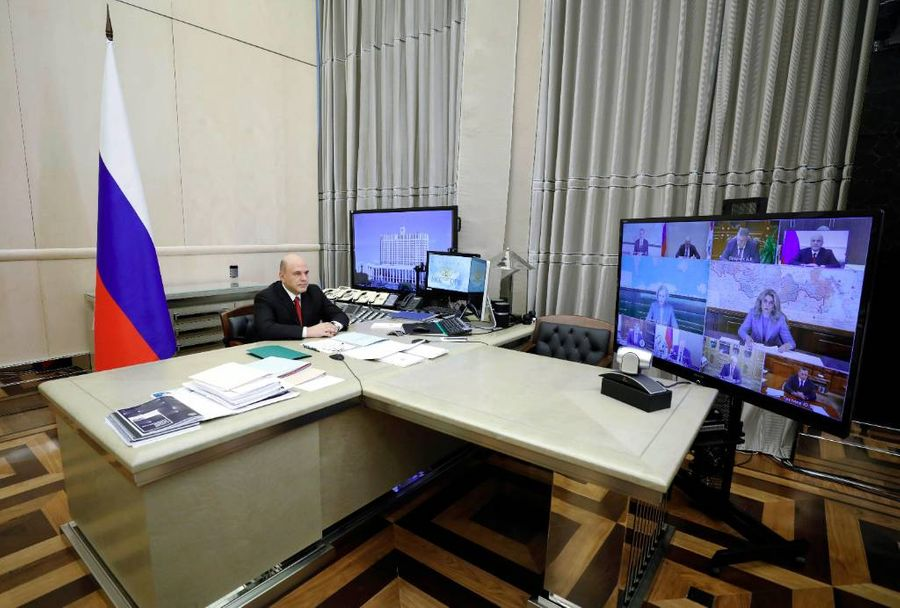 <p>Премьер-министр РФ Михаил Мишустин во время заседания Правительства РФ. Фото © ТАСС / Александр Астафьев</p>
