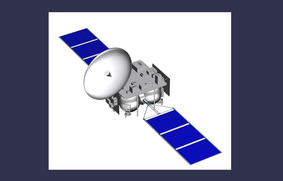 Схематичное изображение орбитального модуля. Изображение предоставлено НПО имени Лавочкина