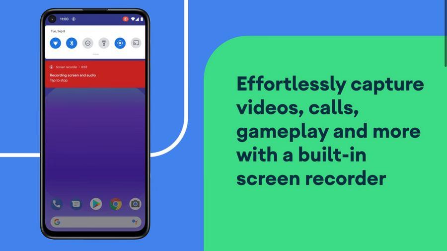 Теперь смартфон со стоковым Android умеет записывать видео. Фото © Кадр из видео YouTube / Android