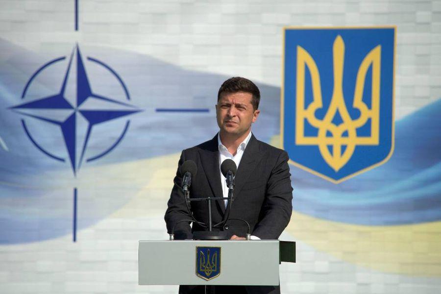 <p>Владимир Зеленский на совместных учениях Украины и НАТО. Фото © ТАСС / Zuma</p>