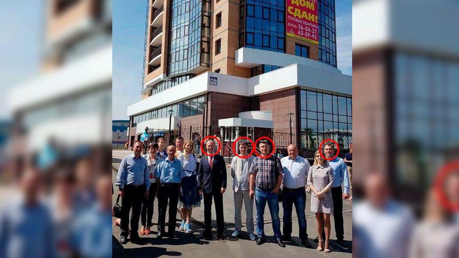 """Сын экс-губернатора Левченко и связанные с ним бизнесмены. © t.me / """"50 оттенков Левченко"""""""