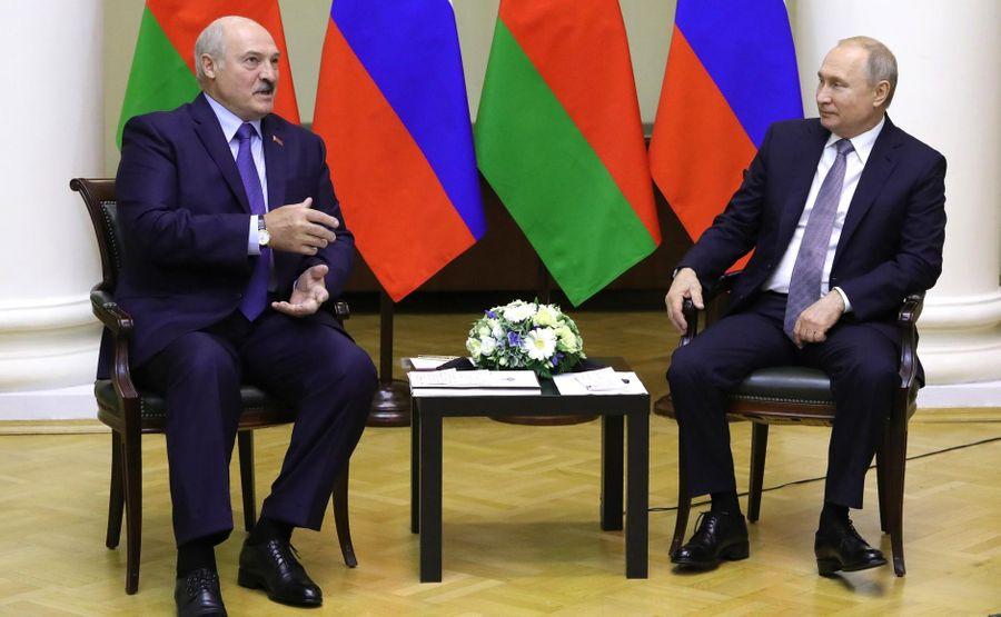 <p>Президент РФ Владимир Путин и президент Белоруссии Александр Лукашенко. Фото © Kremlin</p>